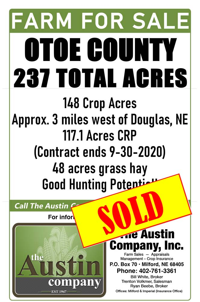 Farm for sale Otoe County 237 Acres